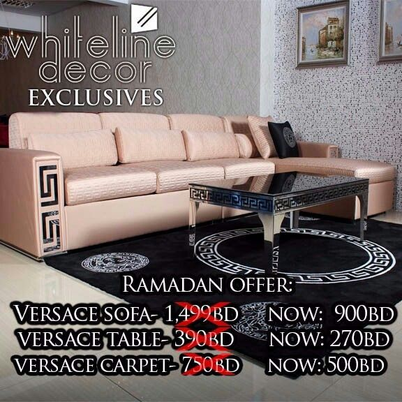 Whiteline Decor Ramadan Exclusives Versace Sofa Bed At Only BD - Creative and soft sofa for real fashionistas by versace