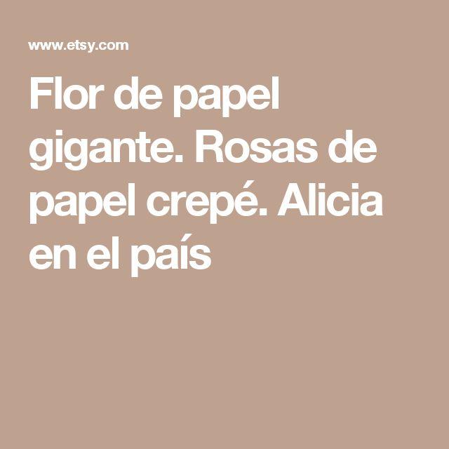 Flor de papel gigante. Rosas de papel crepé. Alicia en el país