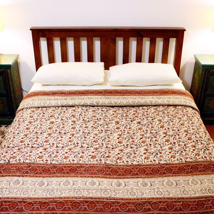 Unique handmade rajai quilts from Jaipur made with natural dyes and 100% cotton selling for AUD$149.95