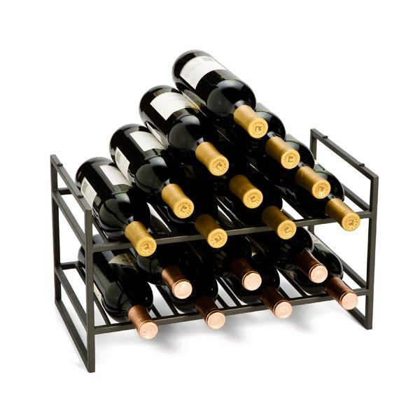 Stackable Wine Rack - Iron Stackable Wine Racks   The Container Store