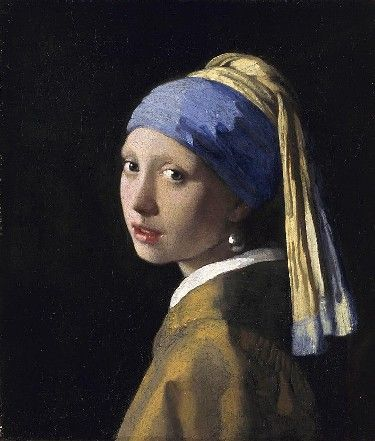 Girl with a Pearl Earring, Johannes Vermeer, about 1665. Maurithuis, The Royal Picture Gallery, The Hague, The Netherlands