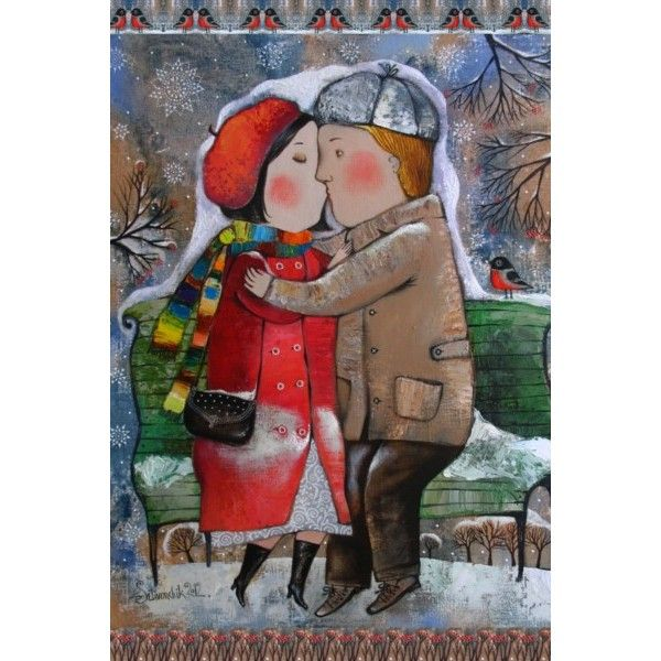 The long kiss - Postcards, Romantic