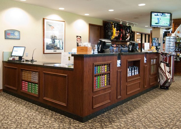 Order your Custom pro shop fixtures for your golf shop today! Custom Sales Counters, Hat Displays, Club Displays and more.