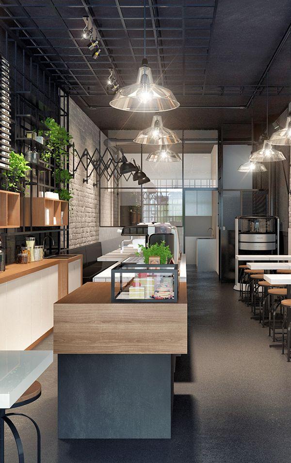 BEN COFFEE on Behance   Coffee shop interior design ...