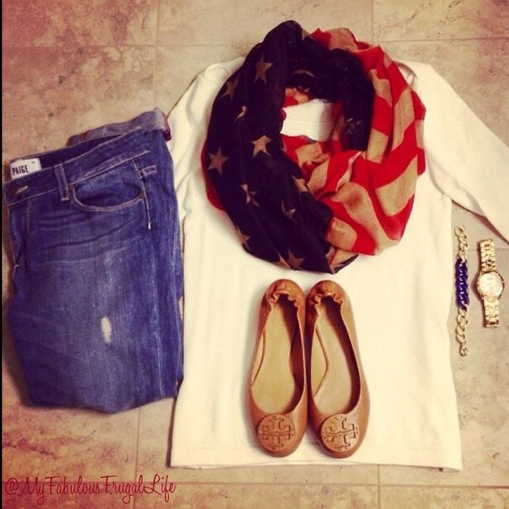 American Flag Infinity Scarf and EVERYTHING 50% Off at Ashe Couture