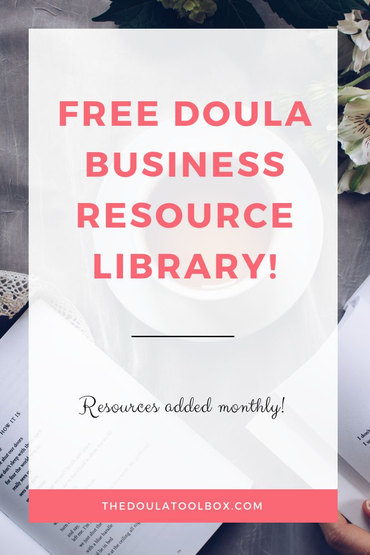 This doula resource library is perfect to start your doula