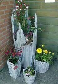 Resultado de imagem para vasos de cimento e toalha