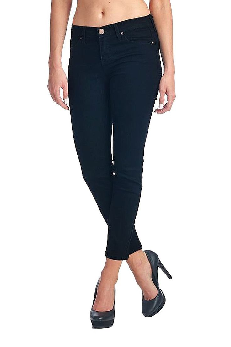 Angry Rabbit Women's Slim Fitted Capri Skinny Jeans  Color- Black  #capri #AngryRabbit #Skinnyjeans