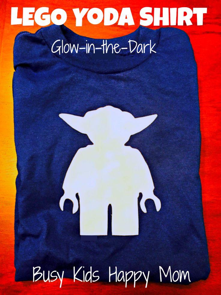 DIY Glow-in-the-Dark Yoda t-shirt.