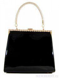Černá lakovaná kabelka do ruky fasco Berlin 8609-1