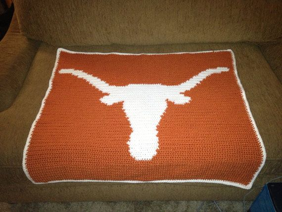 Crochet Pattern For Texas Longhorn Afghan : 89 Best images about Texas Longhorns Baby Stuff on ...