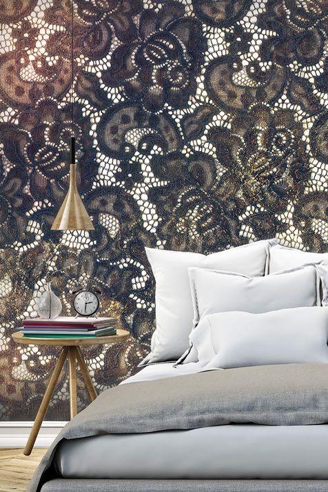 """☙☙☙ Fototapete """"Discreet Elegance"""". Motive der Tapete: Textur, Retro, Ornament, Vintage, Barock, Stoff. Beleben Sie Ihre Wände mit der einzigartigen Mustertapete im Vintage Stil  ☙☙☙"""