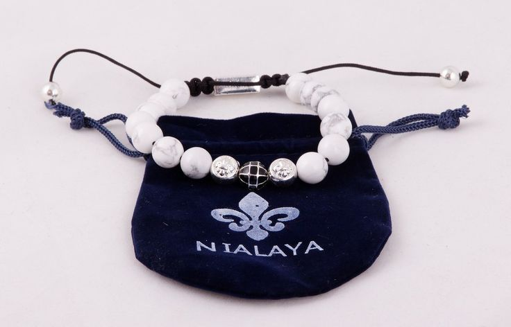 Браслет Nialaya (Шамбала) Made In Hollywood с белыми камнями #19732