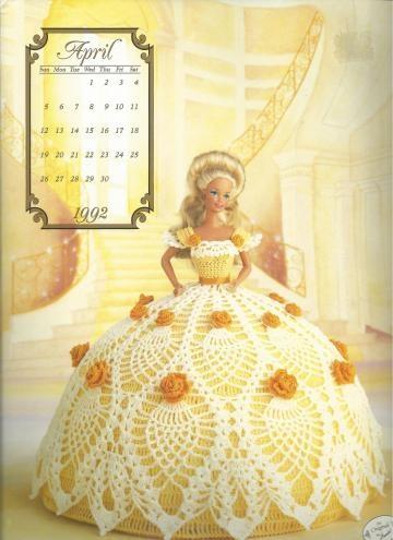1992 ANNIES -CROCHET DOLL - COTILLION DRESSES OF THE MONTH-BED DOLL-APRIL by vingurl53