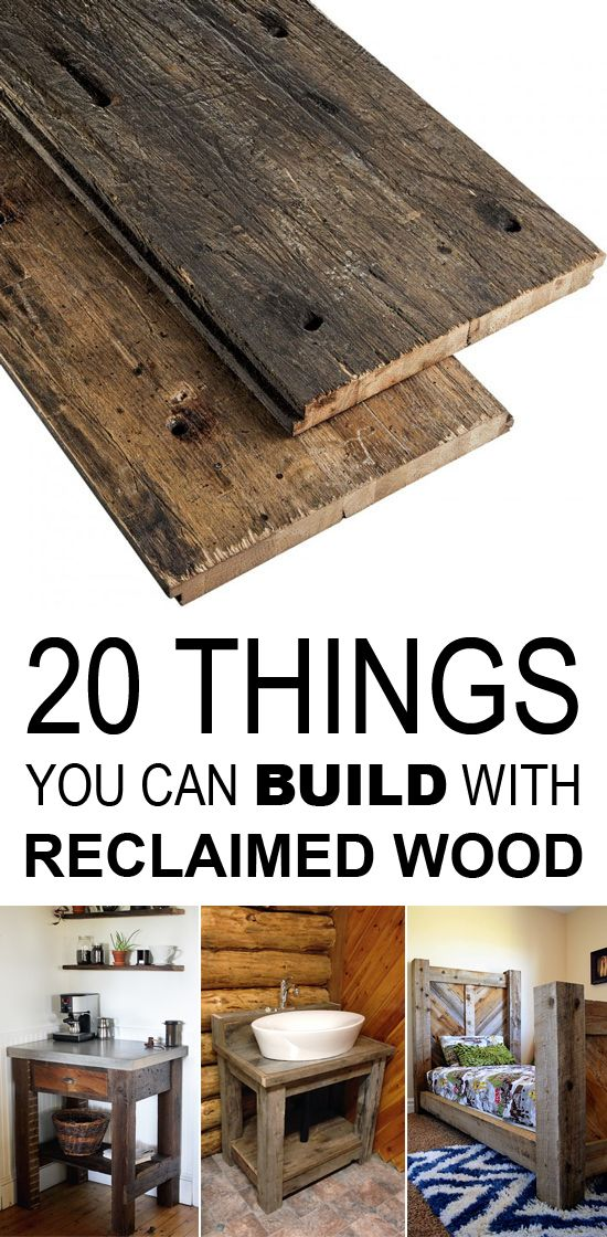 This collection of 20 rustic reclaimed wood DIY projects aims to give you ideas about how you can put all those dusty pieces of wood laying around to some use.