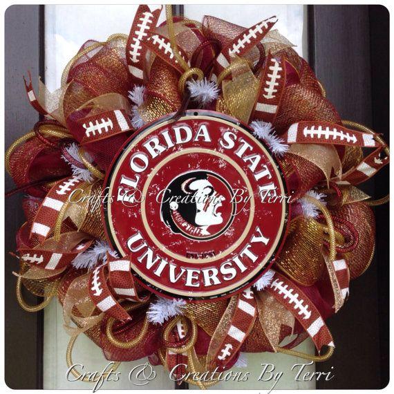 FLORIDA STATE Seminoles College Football Deco by CreatedByTerri, $79.00