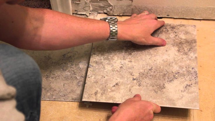 Weekend Bathroom Remodel Part 2: Laying Vinyl Tiles