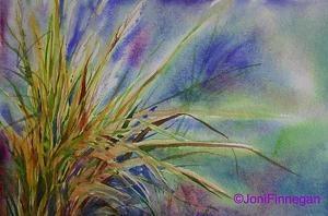 Prarie Grasses by Joan Finnegan Watercolor ~ 9 x 10  unframed $250