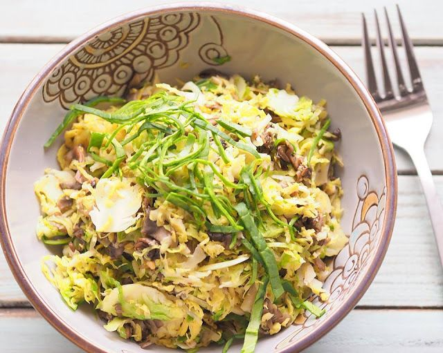 Klunker's Plant-Based Kitchen: Klunker's smoky shredded brussels sprouts