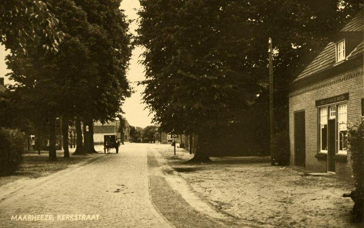 Prentbriefkaart Kerkstraat Maarheeze
