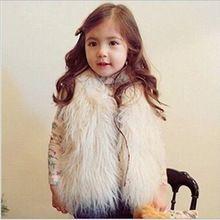 faux fur Vest for girls clothes winter autumn Kids Girl Vests Waistcoats…