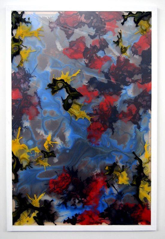 warstwy snu - abstrakcja - akryl na trzech warstwach folii, 80/120cm /layers of dream - abstraction - acrylic on three layers of foil, 31,5/47inch http://www.facebook.com/cin3k88/ na sprzedaż/for sale