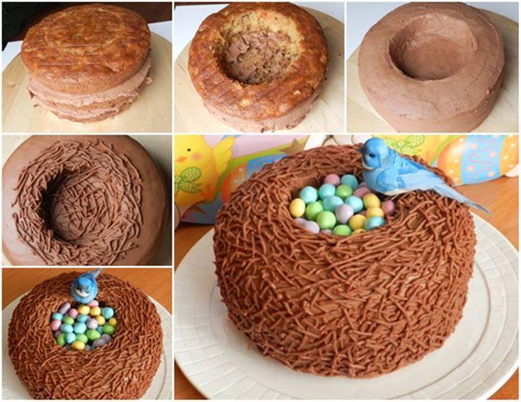 Creative Ideas - DIY Easter Bird Nest Cake