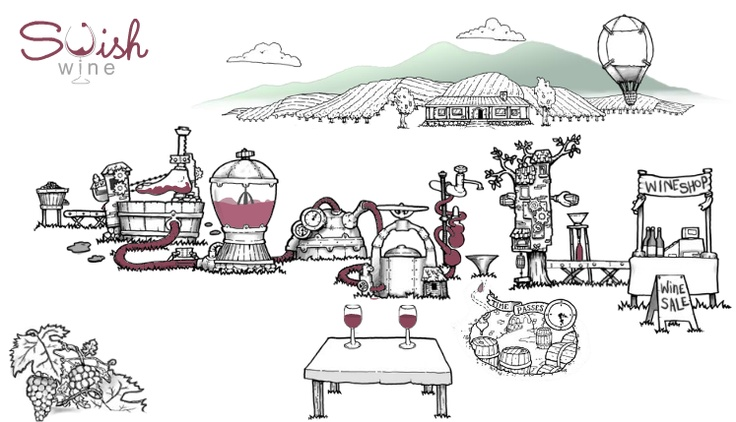 Fantastic animated winemaking process at http://swishwines.com/. Great work guys!