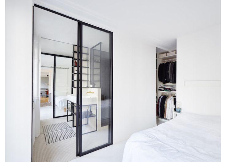 Parijs appartement vol zwart, wit en marmer