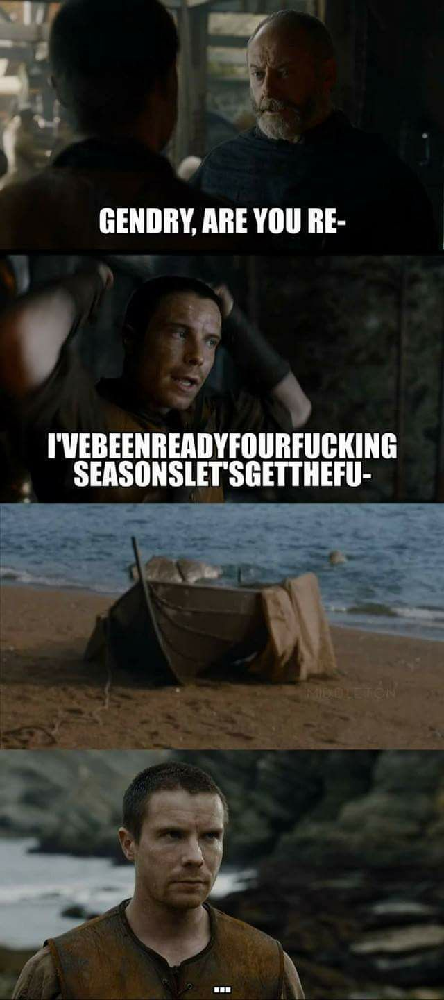 Fancy a bit more rowing Gendry? Game of Thrones.