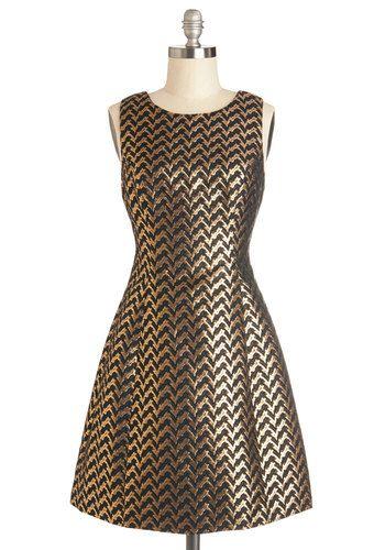 #gold Treasure Seeing You Dress, #ModCloth