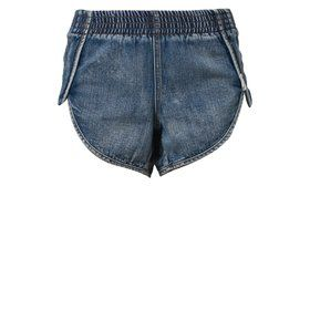 One Teaspoon COBAIN NEW ELASTIC RUNNER Szorty jeansowe niebieski