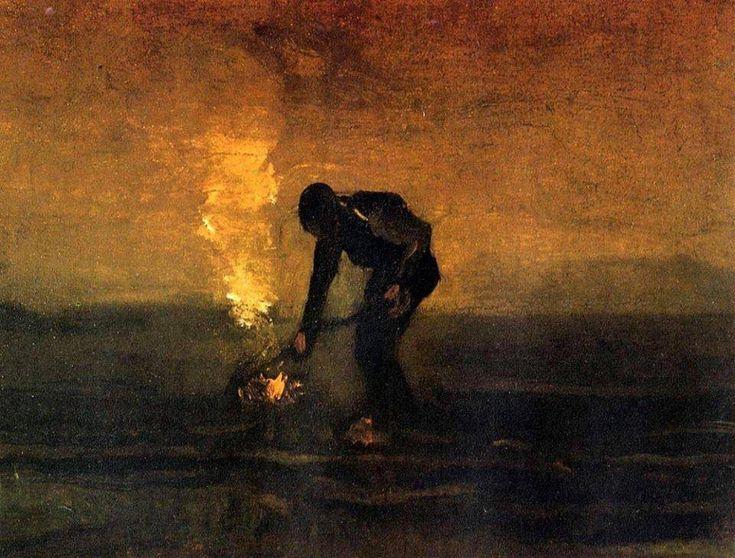 Vincent van Gogh, Peasant Burning Weeds, 1883