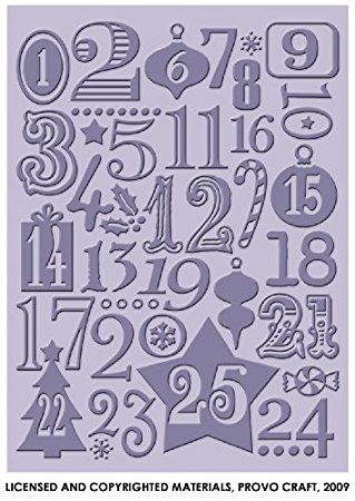 Provo Craft Cuttlebug 5-Inch by 7-Inch Embossing Folder, Christmas Countdown Review