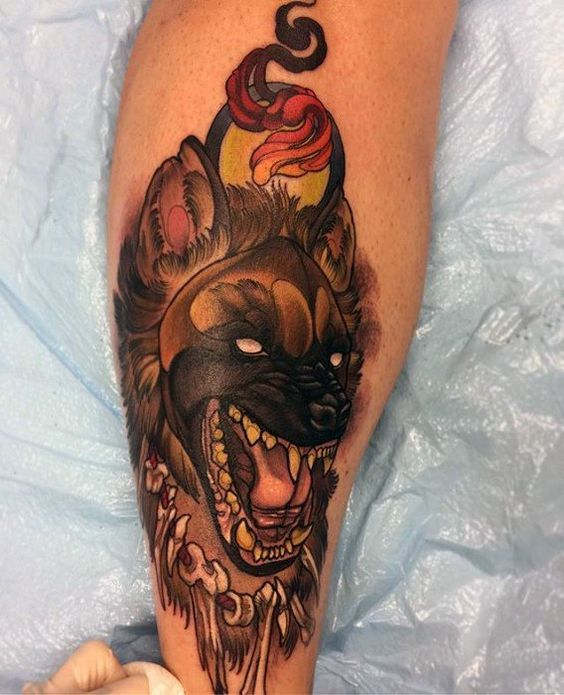 60 Hyena Tattoo Designs For Men – Animal Ink Ideas