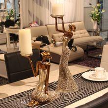 Estilo de luxo beleza da arte vela Taiwan estilo ocidental comida macia carregado de resina início mobiliário retro ornamento do presente de casamento(China (Mainland))