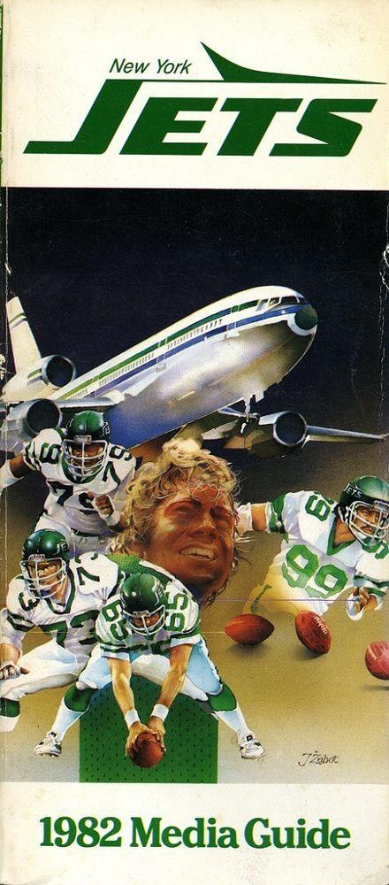 1982 new york jets original football media guide from $10.0