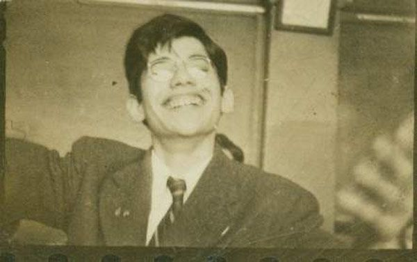 Allen Ginsberg goofing off in his Paterson, New Jersey high school, 1942. Photo c. Allen Ginsberg Estate via the Allen Ginsberg Project.