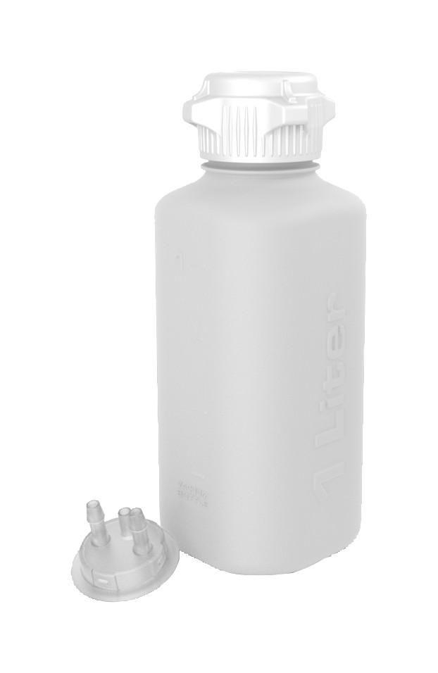 1l Hdpe Heavy Duty Vacuum Bottle 1 4 Hose Barb Adapter And Vent Port Vacuum Bottle Bottle Vacuums