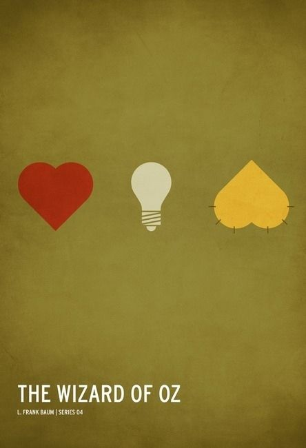 The Wizard of Oz. Minimalist Fairy Tale Posters by Christian Jackson.