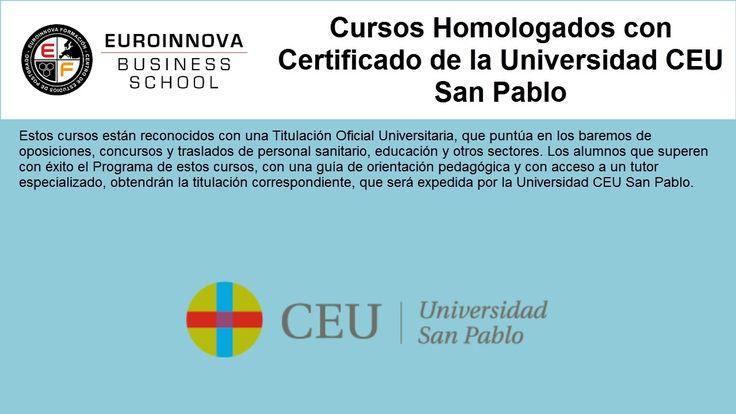 cursos.cenhomologados - https://www.euroinnova.edu.es/cursos-certificados-universidad-ceu-san-pablo