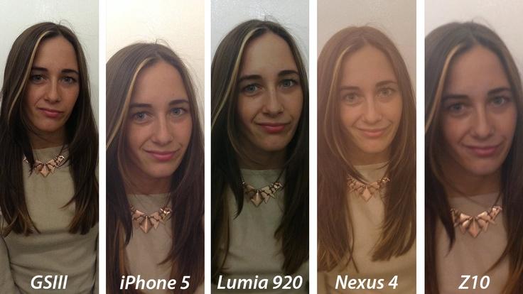 Smartphone camera comparison: Indoor portrait.