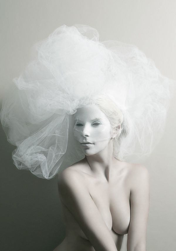 White hair, a series of self-portraits on Behance