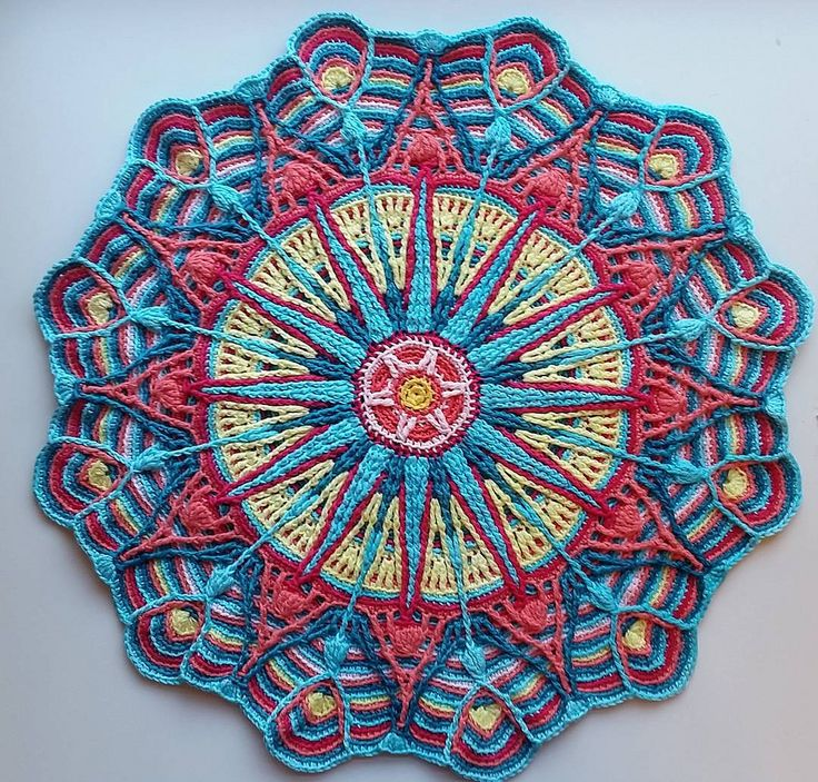 60 Best Images About Crochet CAL On Pinterest Free Pattern Enchanting Free Crochet Mandala Pattern