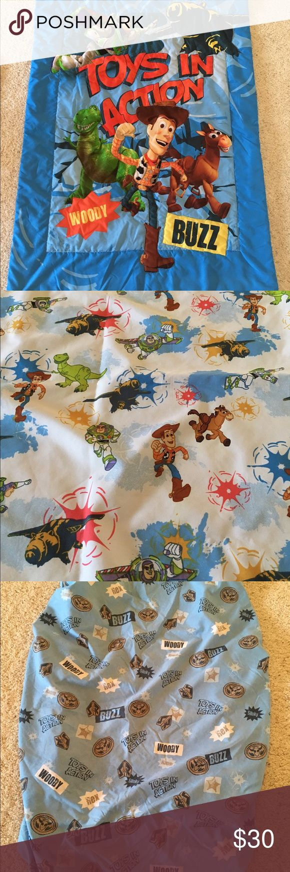 Toddler Bedding Disney Toy Story 3 Piece Set Toddler Bedding Disney's Toy Story 3 Piece Set. In excellent light used condition. Disney Other