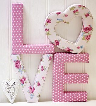 Letras decorativas. Fabric covered letters