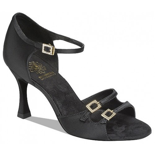 Supadance 1616 Shaped back with fully adjustable two strap vamp. Diamante buckles and quick fit ankle strap hook. Regular fitting. Price: 109.50€