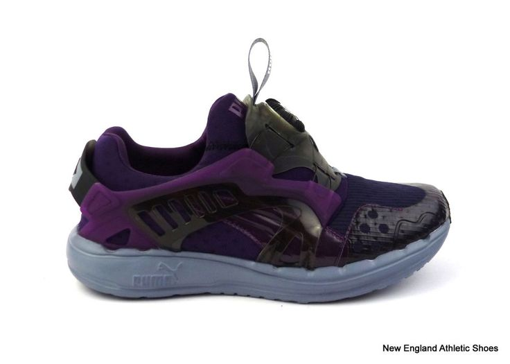 Puma men's Disc Blaze Lite Tech running shoes sneaker size 13 Black Cherry Grape #PUMA #RunningCrossTraining