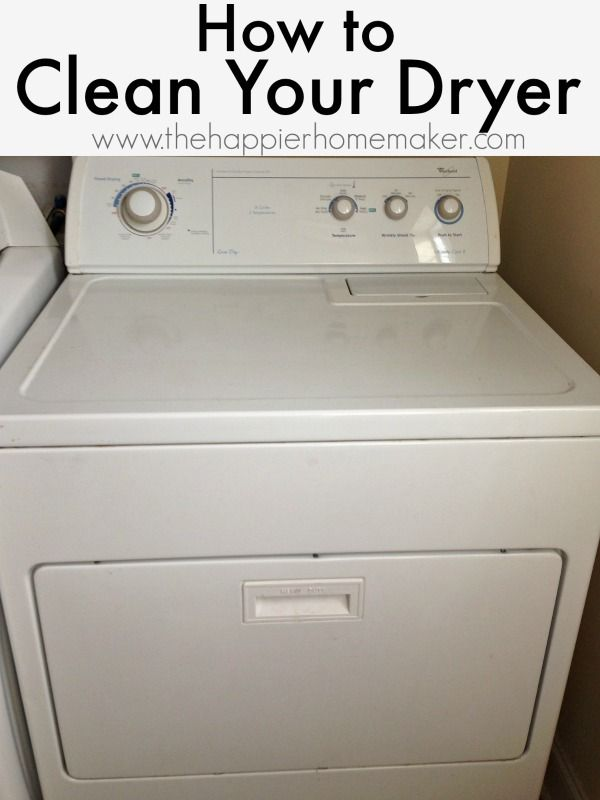 how to clean dryer
