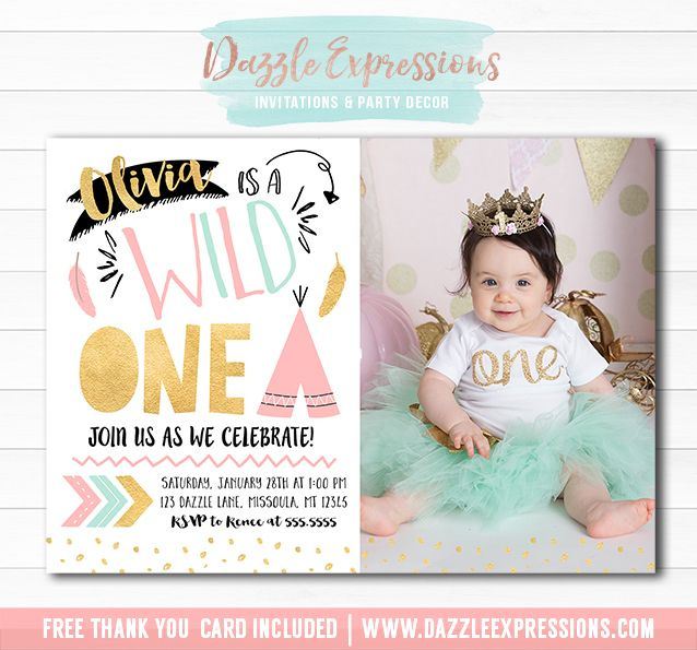 Best 25 1st birthday invitation wording ideas – Pink 1st Birthday Invitations